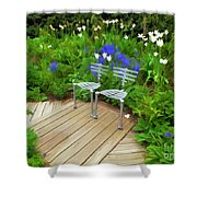 Chairs In The Garden Shower Curtain