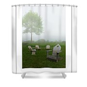 Chairs In The Mist Poster Shower Curtain