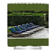Chairs Of The Deck Shower Curtain