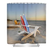Chairs On The Beach Shower Curtain