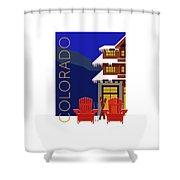 Colorado Chairs Shower Curtain by Sam Brennan