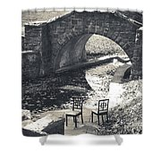 Chairs - Stone Bridge Shower Curtain