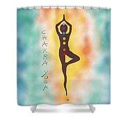 Chakra Yoga Art By Valentina Miletic Shower Curtain