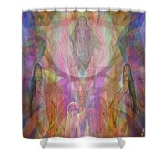 Chakwaina Okya-goddesschildbirth Shower Curtain