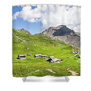 Chalets De Clapeyto # II - French Alps Shower Curtain