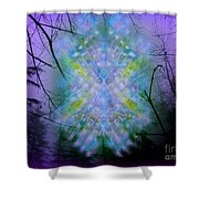 Chalice-tree Spirit In The Forest V1a Shower Curtain