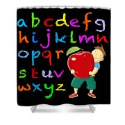 Chalk Board Alphabet B Shower Curtain