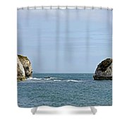 Chalk Cliffs At Freshwater Bay Shower Curtain