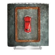 Chalkboard Toy Car Shower Curtain