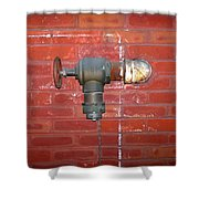 Chalked Pipe Shower Curtain