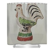 Chalkware Rooster Shower Curtain