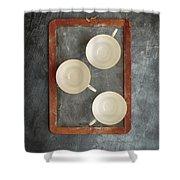 Challkboard Tea Cups Shower Curtain