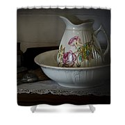Chamber Pitcher With Basin 2 Shower Curtain