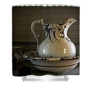 Chamber Pitcher With Basin 3 Shower Curtain