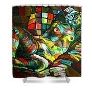 Chameleon I Shower Curtain