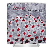 Champs De Marguerites - Love Is In The Air - Red -a23a3 Shower Curtain