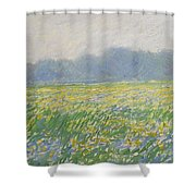 Champ D'iris A Giverny Shower Curtain