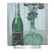 Champagne And Roses Shower Curtain