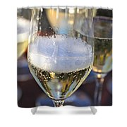 Champagne Celebration Shower Curtain