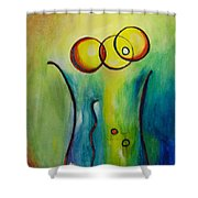 Champagne Shower Curtain by Donna Blackhall