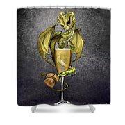 Champagne Dragon Shower Curtain