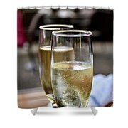 Champagne Glasses Shower Curtain