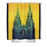 Champagne, Reims, Cathedral, France Shower Curtain