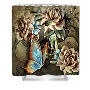 Champagne Roses Shower Curtain