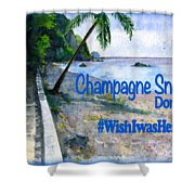 Champagne Snorkel Dominica Shirt Shower Curtain