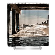 Champagne Surf  Shower Curtain by Kim Loftis