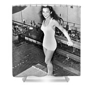 Champion Diver Vicki Draves Shower Curtain