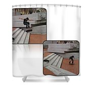 Champion In Flight And Landing Shower Curtain