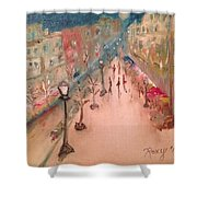 Champs De Elysee At Twilight. #paris Shower Curtain
