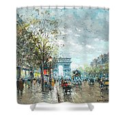 Champs Elysees Avenue, Paris Shower Curtain