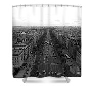 Champs Elysees In Paris Shower Curtain