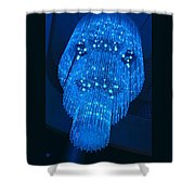 Chandelier In Blue 1 Shower Curtain