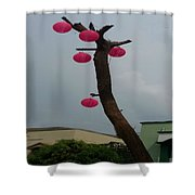 Chandelier On A Tree Shower Curtain