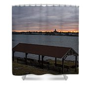 Chandler Hovey Park Sunset Marblehead Ma Shower Curtain
