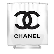 Chanel - Black And White 04 - Lifestyle And Fashion Shower Curtain