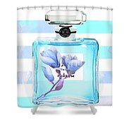 Chanel Blue Decor Shower Curtain