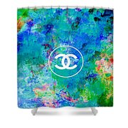 Chanel Blue White Red Black 10 Shower Curtain