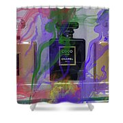 Chanel Coco Abstract Shower Curtain