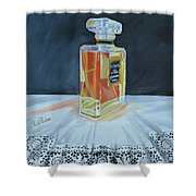 Chanel Coco With Lace Shower Curtain