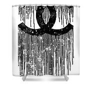 Chanel Logo Black White 1 Shower Curtain