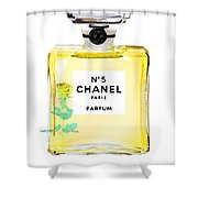 Chanel N 5 Perfume Poster Shower Curtain