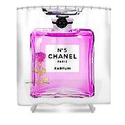 Chanel N 5 Perfume Print Shower Curtain
