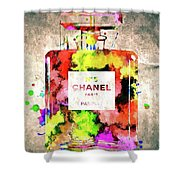 Chanel No. 5 Colored  Shower Curtain