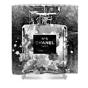 Chanel No. 5 Dark Shower Curtain