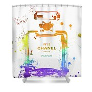 Chanel Number Nineteen Shower Curtain