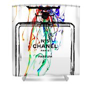 Chanel No. 5 White Shower Curtain